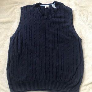 Navy blue Izod sweater vest